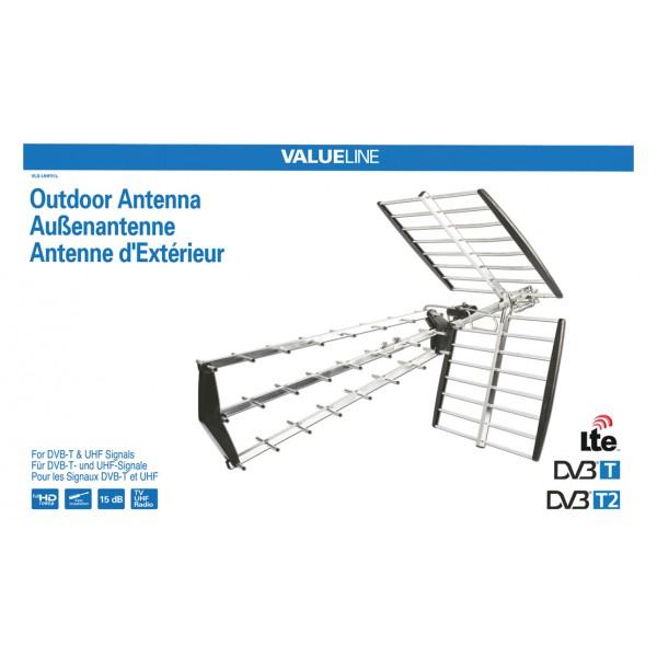 Antenne d ext rieur dvb t et uhf 15 db for Antenne 4g exterieur