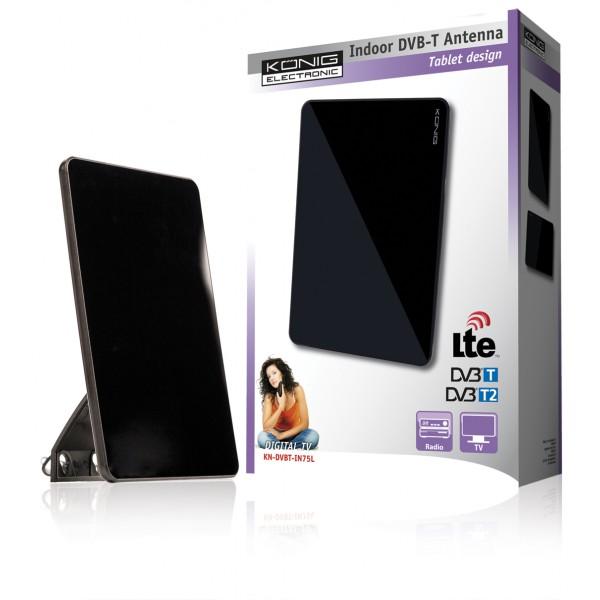 Antenne tnt d int rieur avec design tablette 30 db fm vhf uhf for Meilleure antenne tnt interieur