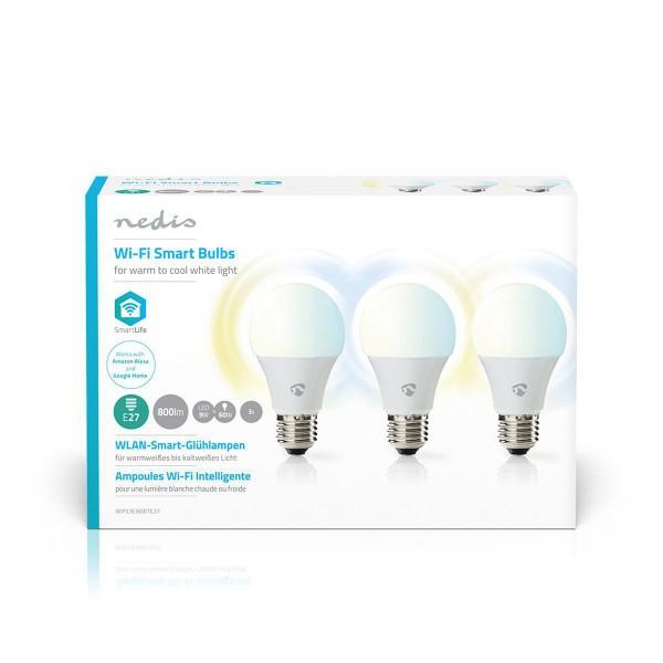 nierle com - WiFi Smart LED Bulbs   Warm to Cool White   E27   3 pack