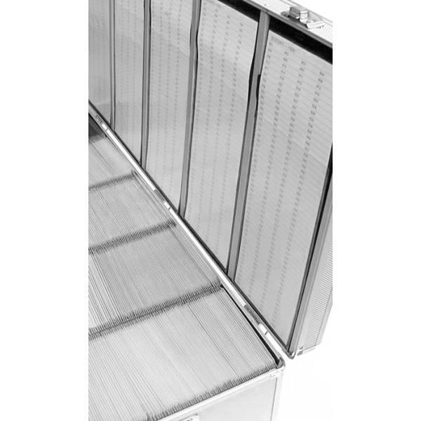 Nierle DJ väska Lämplig för 1000 CDDVDBlu ray, ABS, Silver