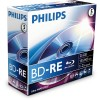 Philips Blu Ray Disc BD-RE Rewriteable 135 min/25 GB 2x, 5-pack in jewelbox