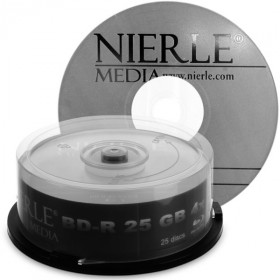 Blu-ray Disc NIERLE Edition BD-R 25 GB, 1-4x Speed p� spindel, 25 pack