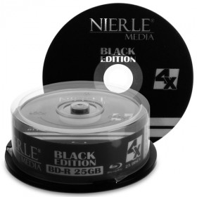 Blu-ray Disc NIERLE Black Edition BD-R 25 GB, 1-4x Speed in Cakebox , 25 pieces