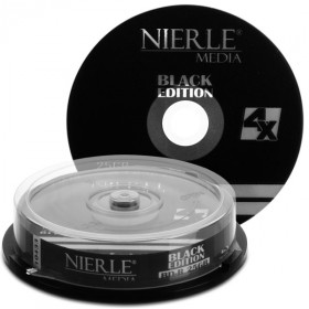 Blu-ray Disc NIERLE Black Edition BD-R 25 GB, 1-4x Speed in Cakebox , 10 pieces
