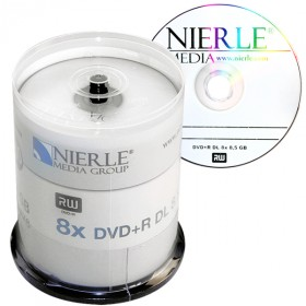 DVD+R DL 8,5 GB NIERLE Edition 8x Speed Double Layer in Cakebox 100 -pack