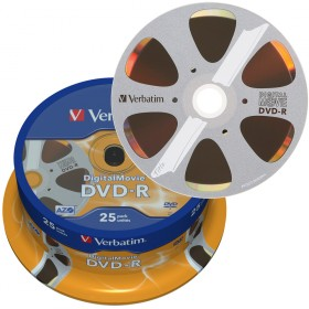 DVD-R 4,7 GB Verbatim Digital Movie 8x Speed in Cakebox 25-stuks