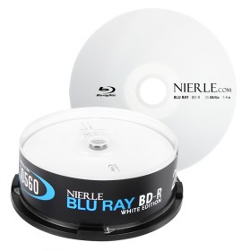 Blu-ray Disc NIERLE White Edition BD-R 25 GB, 1-4x en Cakebox 25 piezas