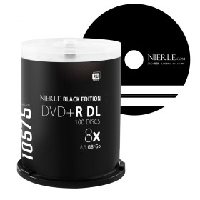 DVD+R DL 8,5 GB NIERLE Black Edition 8x Double Layer in cakebox 100 pieces