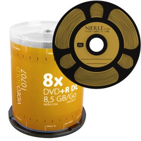 DVD+R DL 8,5 GB NIERLE Video Gold Edition 8x Double Layer in Cakebox 100-pack
