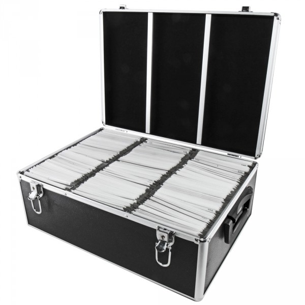 nierle valise dj convient pour 510 cd dvd blu ray abs noir. Black Bedroom Furniture Sets. Home Design Ideas