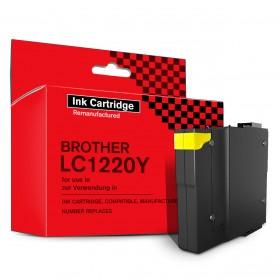 Tintenpatrone, Kompatibel, Ersetzt Brother LC1220Y, Brother LC1240Y, Brother LC1280Y, 19 ml, Gelb, 1 Stück