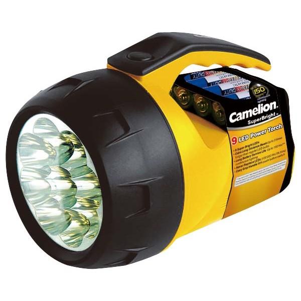 Camelion superbright lampe torche 9 leds extra blanches - Lampe torche puissante ...