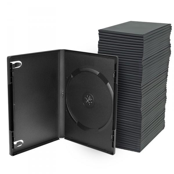 Splinternye Economy DVD Cases, 14 mm, Sort, 100-stk IQ-31