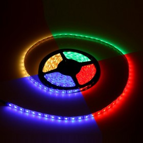 LED strip RGB, 2m, set complet, t�l�commande incluse, autocollant, �tanche