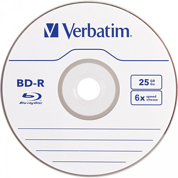 595ca260f Blu-ray Disc Verbatim BD-R 25 GB, 6x Speed, in Cakebox 10-pack