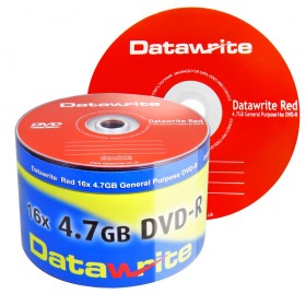 Datawrite Red DVD-R 120 min / 4.7 GB 16x, 50 stk i ECO-pack