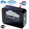 Sanho Cloud FTP adapter by HyperDrive, Streams data directly to your WiFi device such as iPAD, iPhone, Tablet, Smartphone etc., Makes any USB Storage Device Wireless, Black