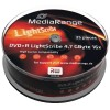 MediaRange DVD+R 4.7 GB / 120 min 16x, LightScribe 1.2, 25 stk i cakebox