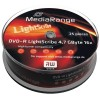 MediaRange DVD-R 4.7 GB / 120 min 16x, LightScribe 1.2, 25 stk i cakebox