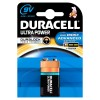 Duracell Ultra Power Alkaliska batterier, 9V, 6LR61, E Block, MN1604