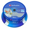 Verbatim DataLife Blu-ray Disc BD-R 25 GB / 135 min 6x, Full printable, 25 St�ck in Cakebox