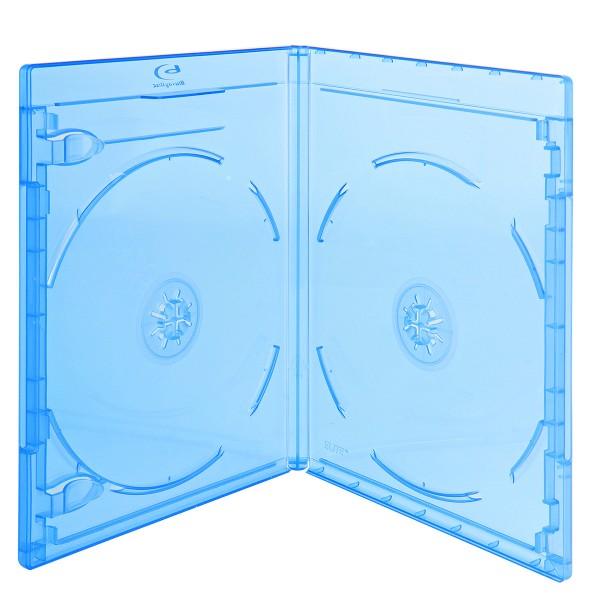 Nierle Elite Boitier Blu-ray Transparent Slim 6 mm Bleu 60 pi/èces Machine-pack-quality