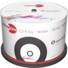 Primeon Black-Vinyl-Disc CD-R 700 MB / 80 min 52x, Vinyl Bedruckbar, 50 Stück in Cakebox