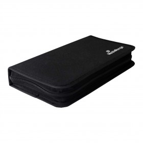NIERLE CD/DVD/Blu-Ray Wallet for 48 Discs, Nylon, black