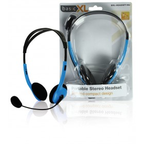 Portable Stereo Headset Blau