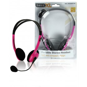 Portable Stereo Headset pink