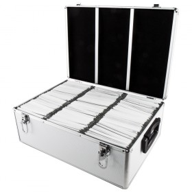 nierle valise dj convient pour 510 cd dvd blu ray abs argent. Black Bedroom Furniture Sets. Home Design Ideas