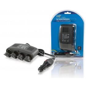 4fach KFZ-Verteiler 12V + USB