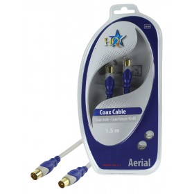Standard Koax Kabel Stecker - Kupplung 90dB 1,50m