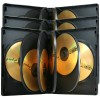 DVD-cases for 8 medias black - 3-pack