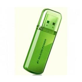 Silicon Power Helios 101 USB Stick, 16 GB, USB 2.0, Aluminium, Grün