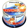 DVD+R 4,7 GB Philips 16x Nopeus Cakebox 50-pakkaus