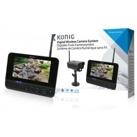 Digitales 2,4 GHz Funk-Kamerasystem mit 7´´ Monitor