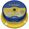 DVD+RW 4,7 GB Verbatim 4x Speed in Cakebox 25-pack