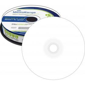 DVD-R MediaRange 1,4 GB 8 cm fullprintable 4x Speed in Cakebox 10 Stk