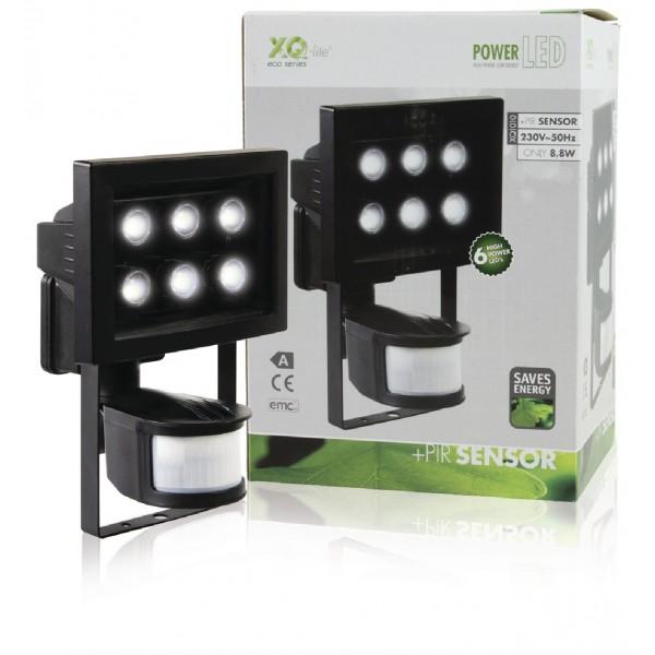 lampe d exterieur 6 led avec detecteur de mouvement xq lite. Black Bedroom Furniture Sets. Home Design Ideas
