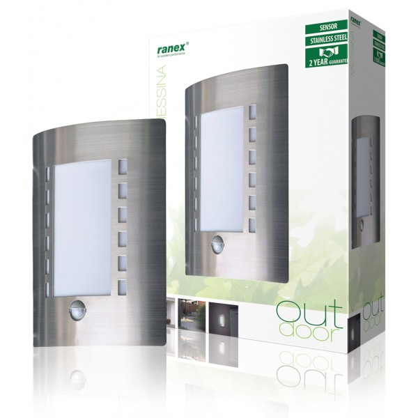 Lampe murale avec d tection de mouvement e27 ip44 - Lampe a detection de mouvement ...