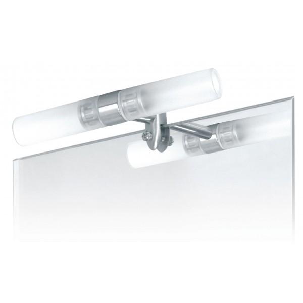 Eclairage pour miroir acier bross for Miroir vanguard