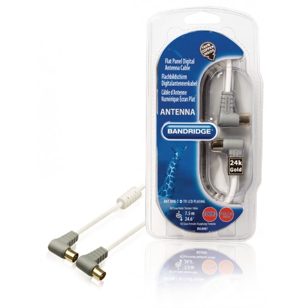 Flat Electronic Cables : Flat panel digital antenna cable db m