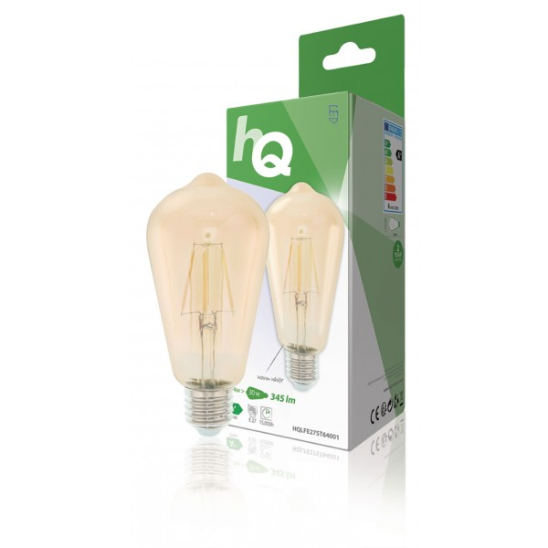 retro filament LED lamp E27 4 watt 345 lumen 2700 kelvin