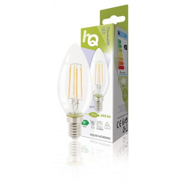 Dimmable retro filament LED lamp E14 4 watt 345 lumen 2700 ...