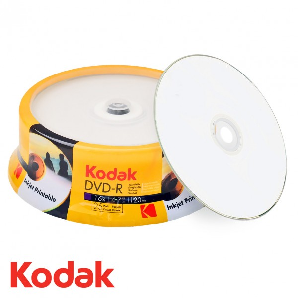 image relating to Printable Dvd Disc identify - Kodak DVD-R 4.7 GB / 120 min 16x, Printable, 25 elements within cakebox