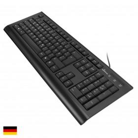 MediaRange MROS101 Tastatur, QWERTZ, Kabelanschluss, 105 Tasten, Schwarz