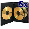 DVD-cases for 3 Medias 14 mm blac - 5-pack