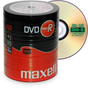 DVD-R 4,7 GB Maxell 16x Speed ECO-Pack 100 Stk