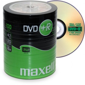 DVD+R 4,7 GB Maxell 16x Speed ECO-Pack 100 pieces